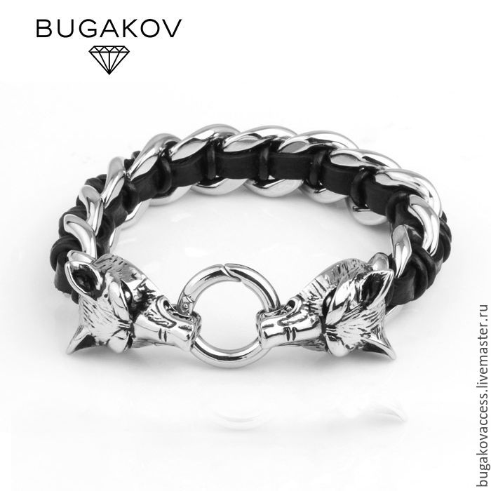 Bracelet jewelry began with wolves skin, Bead bracelet, Moscow,  Фото №1
