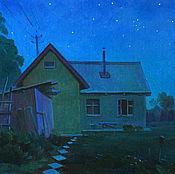 Картины и панно ручной работы. Ярмарка Мастеров - ручная работа Светлая ночь. Handmade.