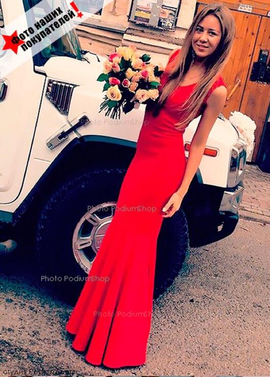 Платье Русалка красная