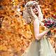 """Платья ручной работы. Платье """"Осень"""". Aleksandra Gapanovich. Интернет-магазин Ярмарка Мастеров. Цветочный, свадебное платье, Подкладочная ткань"""