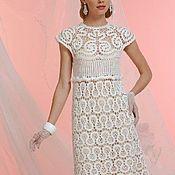 Одежда handmade. Livemaster - original item The white lace dress  (hand made chrochet art). Handmade.