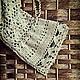 Легкое, ажурное платье связано крючком из натуральной льняной нити.