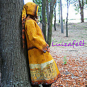 Одежда handmade. Livemaster - original item Coat a walk in the fabulous city felt. Handmade.