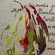 Натюрморт ручной работы. Заказать Картина вышитая крестом Груша. Елена Дедюлина. Ярмарка Мастеров. Картина, подарок на день рождения