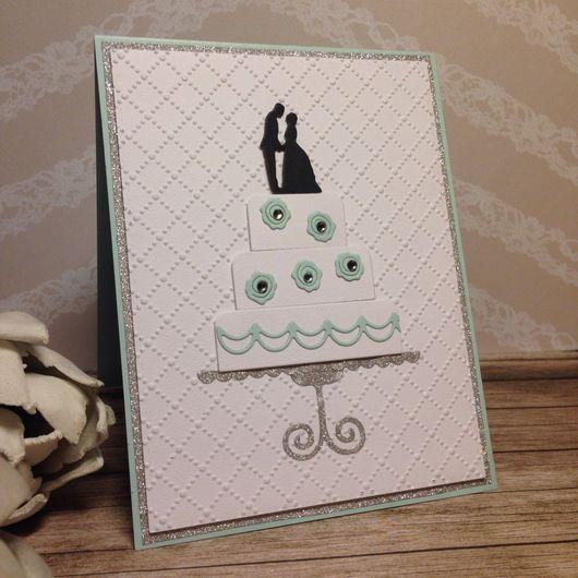Свадебные открытки ручной работы. Ярмарка Мастеров - ручная работа. Купить Свадебное приглашение - свадебный торт. Handmade. Нежная открытка
