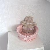 Для дома и интерьера ручной работы. Ярмарка Мастеров - ручная работа Коробочка вязаная розовая (продана). Handmade.