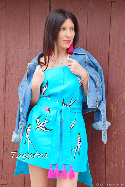 Embroidered Midi Dress ethno style boho chic, Bohemian, Dresses, Chernovtsy, Фото №1