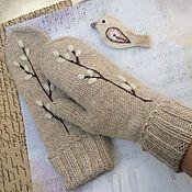 Аксессуары handmade. Livemaster - original item Mittens knitted, felted twig willow. Handmade.