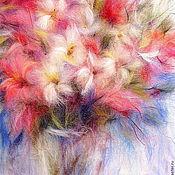 handmade. Livemaster - original item Picture of wool Floral Rhapsody of Tenderness. Handmade.
