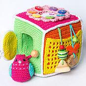 Развивающий кубик для девочки с птичкой