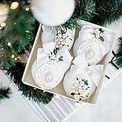 Сувениры и подарки handmade. Livemaster - original item Christmas decorations: white. Handmade.