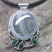 Украшения handmade. Livemaster - original item Pendant made of silver ,Timan agate,chrysoprase