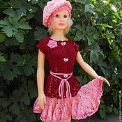 Работы для детей, handmade. Livemaster - original item Suit for girl`s Cherry jam.. Handmade.