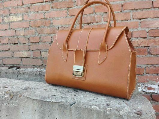 Женские сумки ручной работы. Ярмарка Мастеров - ручная работа. Купить Оранжевый саквояж. Handmade. Оранжевый, ручная работа