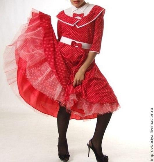 """Платья ручной работы. Ярмарка Мастеров - ручная работа. Купить Платье """"Стиляги"""".Доступно для проката/аренды. Handmade. Ярко-красный, стиляги"""