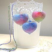 Украшения handmade. Livemaster - original item Earrings Flower Petals Pink Blue Flower Nature Flora Bloom. Handmade.