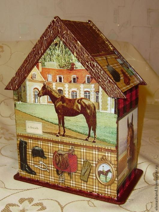 """Кухня ручной работы. Ярмарка Мастеров - ручная работа. Купить Двойной чайный домик """"Конный спорт"""". Handmade. Чайный домик"""