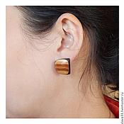 Украшения handmade. Livemaster - original item Ornaments made of wood ( earrings ). Handmade.
