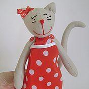 Куклы и игрушки ручной работы. Ярмарка Мастеров - ручная работа Кошка тильда -  МАРТА. Handmade.