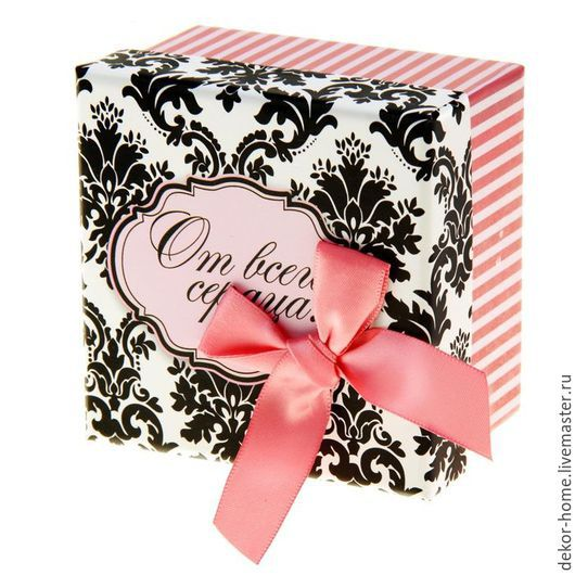 """Упаковка ручной работы. Ярмарка Мастеров - ручная работа. Купить Коробка подарочная """"Узор"""" 2 размера. Handmade. Комбинированный, упаковка"""