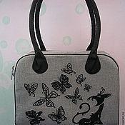 """Сумки и аксессуары ручной работы. Ярмарка Мастеров - ручная работа сумка """"Кошка и бабочки"""". Handmade."""