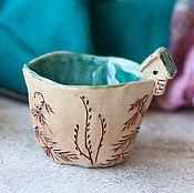 Посуда ручной работы. Ярмарка Мастеров - ручная работа Пиалочка керамика Дом у озера. Handmade.