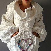Одежда ручной работы. Ярмарка Мастеров - ручная работа Вязаная куртка ``СНОУВАЙТ Бохо``. Handmade.