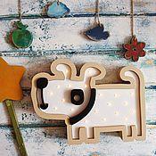 Для дома и интерьера ручной работы. Ярмарка Мастеров - ручная работа Детский светильник Собачка. Handmade.