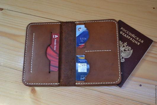 Обложки ручной работы. Ярмарка Мастеров - ручная работа. Купить обложка на паспорт кожаная. Handmade. Обложка на паспорт, обложка на автодокументы