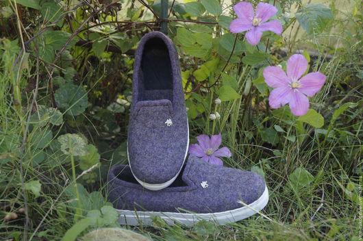 """Обувь ручной работы. Ярмарка Мастеров - ручная работа. Купить Слипоны валяные """"Легкий шаг"""". Унисекс. Handmade. Валяная обувь"""