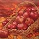 Плетеная корзина с яблоками и зеленое яблоко - 207 Салфетка для декупажа. Много яблок. Яблоки в корзине, зеленое яблоко Декупажная радость
