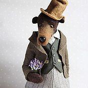 """Куклы и игрушки ручной работы. Ярмарка Мастеров - ручная работа Миша """"С праздничком"""", мишка-тедди, валянный из шерсти. Handmade."""