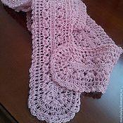 """Аксессуары ручной работы. Ярмарка Мастеров - ручная работа Маленький шарфик """"Розовый зефир"""". Handmade."""