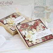 Подарки к праздникам ручной работы. Ярмарка Мастеров - ручная работа Подарок учителю (коробочка для денег, конверт для диска ). Handmade.