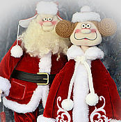 Куклы и игрушки ручной работы. Ярмарка Мастеров - ручная работа Новогоднее семейство. Handmade.