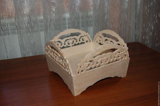 Конфетница-хлебница-сухарница 320. Заготовка для декупажа и росписи.