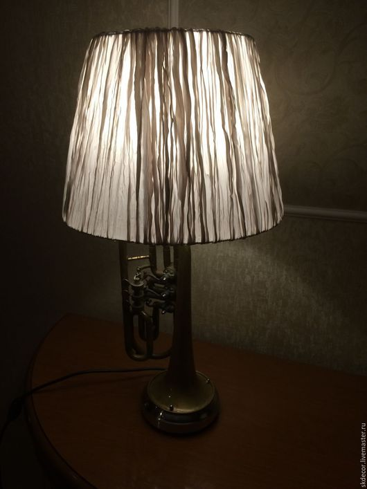 Освещение ручной работы. Ярмарка Мастеров - ручная работа. Купить Настольная лампа из старой трубы. Handmade. Настольная лампа, ночник