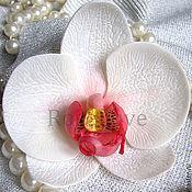 """Брошь-булавка ручной работы. Ярмарка Мастеров - ручная работа Брошь - заколка """" Орхидея """" ручной работы. Handmade."""