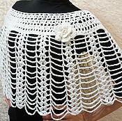 Одежда handmade. Livemaster - original item Poncho-Cape-pelerine crochet opaline. Handmade.