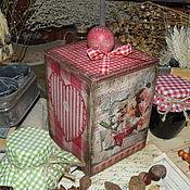 """Для дома и интерьера ручной работы. Ярмарка Мастеров - ручная работа """"Готовим торт!"""" короб. Handmade."""