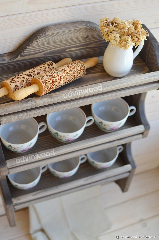 """Мебель ручной работы. Ярмарка Мастеров - ручная работа. Купить Полка для кухни """"Папричи 2"""". Handmade. Полка для кухни"""