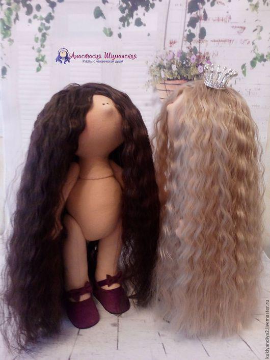 Куклы тыквоголовки ручной работы. Ярмарка Мастеров - ручная работа. Купить Заготовка для куклы с волосами. Handmade. Бежевый, пенопластовый шар