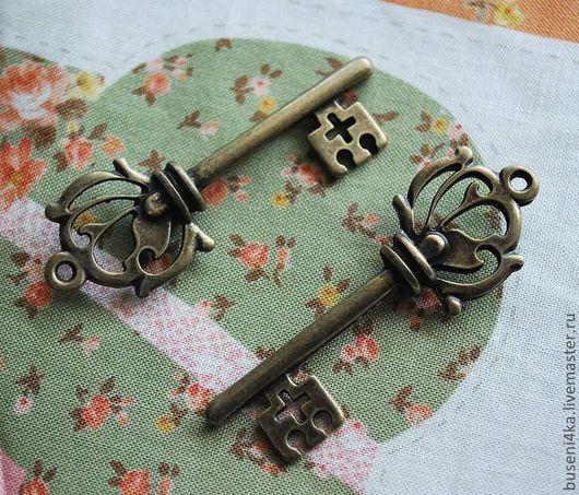 Для украшений ручной работы. Ярмарка Мастеров - ручная работа. Купить Подвеска Ключик №18 античная бронза (1шт). Handmade.