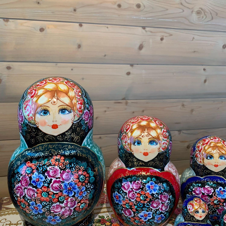 Матрешка с Жостовским подносом - 15 местная, Матрешки, Сергиев Посад,  Фото №1