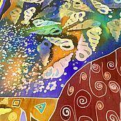 """Аксессуары ручной работы. Ярмарка Мастеров - ручная работа Платок """" Музыка моря"""". Handmade."""