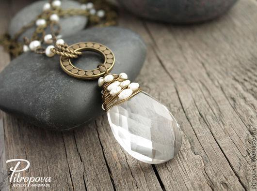 Кулоны, подвески ручной работы. Ярмарка Мастеров - ручная работа. Купить Подвеска Glass&Pearls 2. Handmade. Подвеска, подарок, кулон