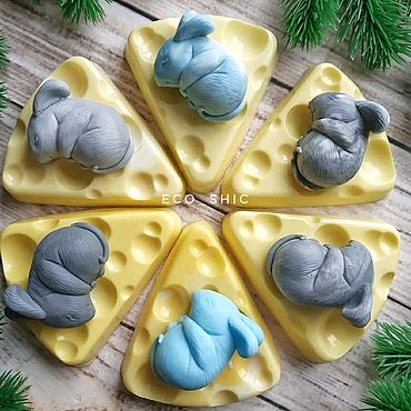 Souvenirs and gifts handmade. Livemaster - original item Little mouse sleeping on cheese. Soap fragrant handmade. Handmade.