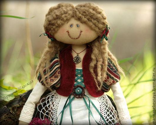 Ароматизированные куклы ручной работы. Ярмарка Мастеров - ручная работа. Купить Девочка с корзинкой цветов.. Handmade. Тёмно-зелёный, бязь