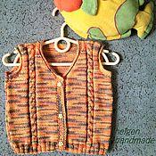 """Одежда ручной работы. Ярмарка Мастеров - ручная работа Вязаный жилет """"Наше солнышко"""" для малыша до 1-1,5 лет. Handmade."""