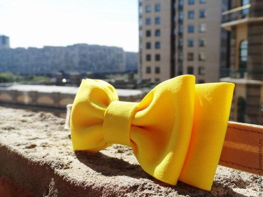 Галстуки, бабочки ручной работы. Ярмарка Мастеров - ручная работа. Купить Галстук бабочка Солнечный. Handmade. Желтый, яркий галстук